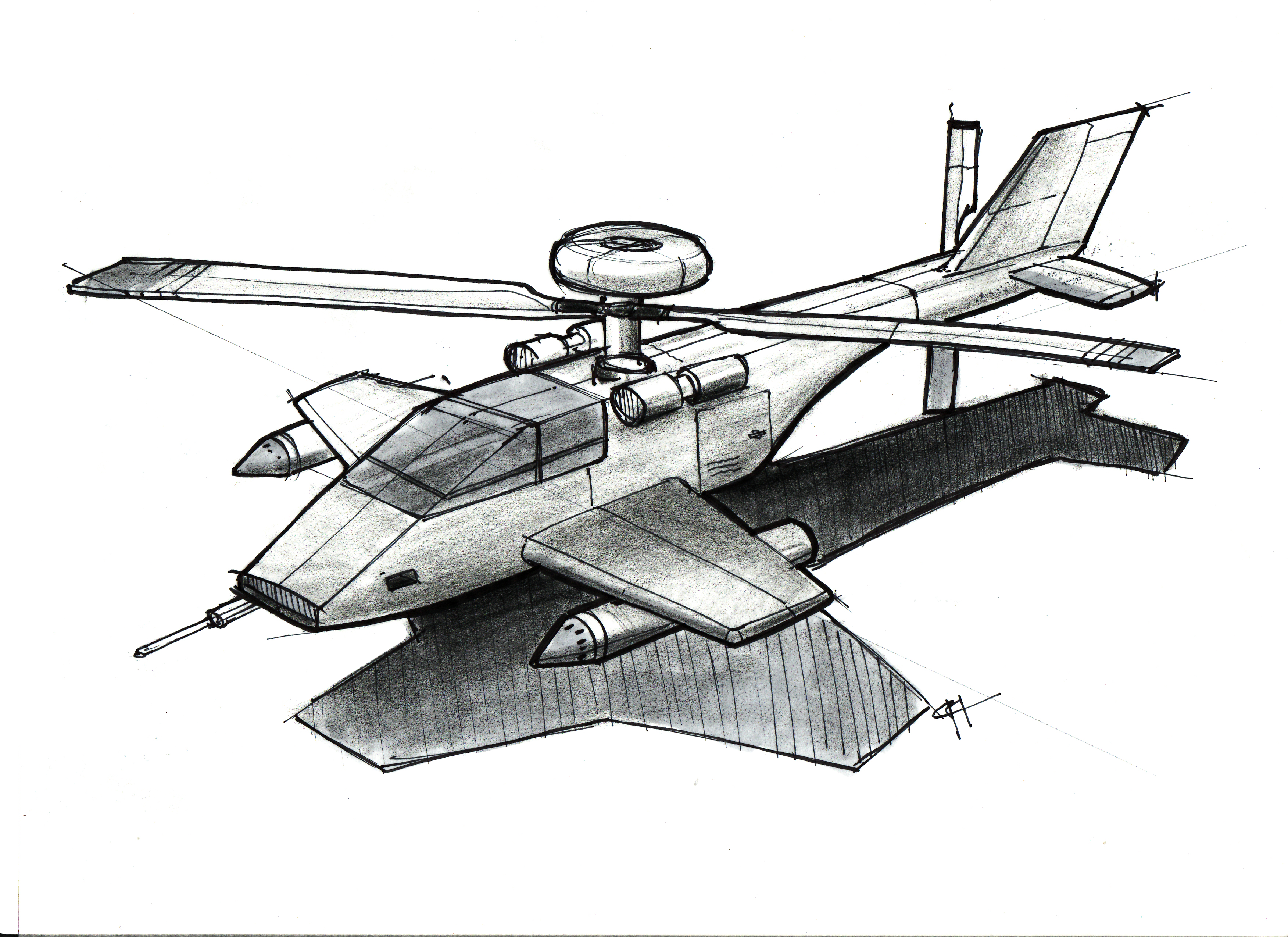 Line Drawing Helicopter : Helicopter lineweights