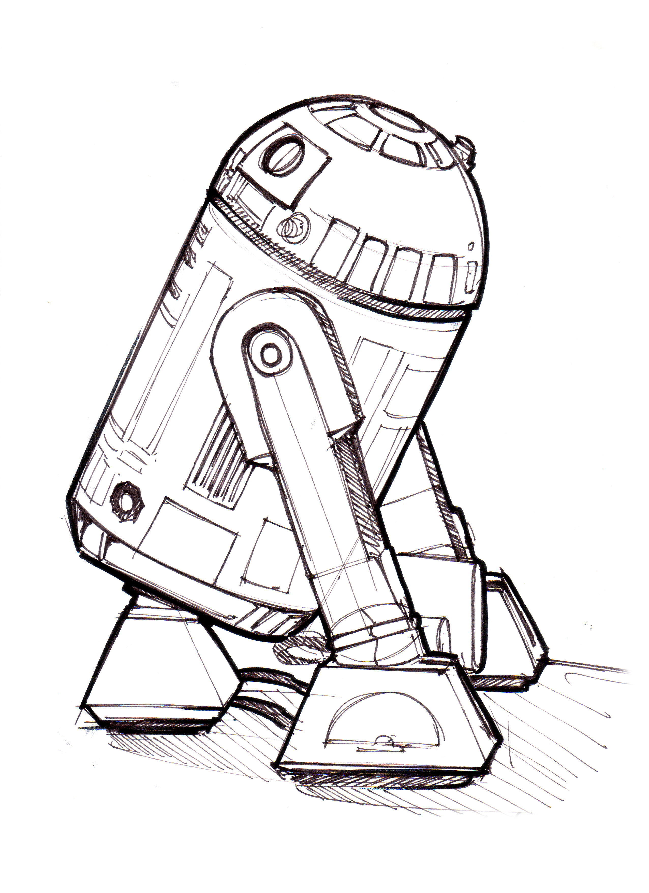 r2d2 coloring pages - photo #14