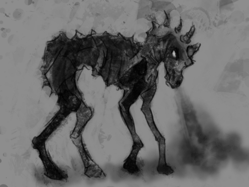 skeletal horse thing