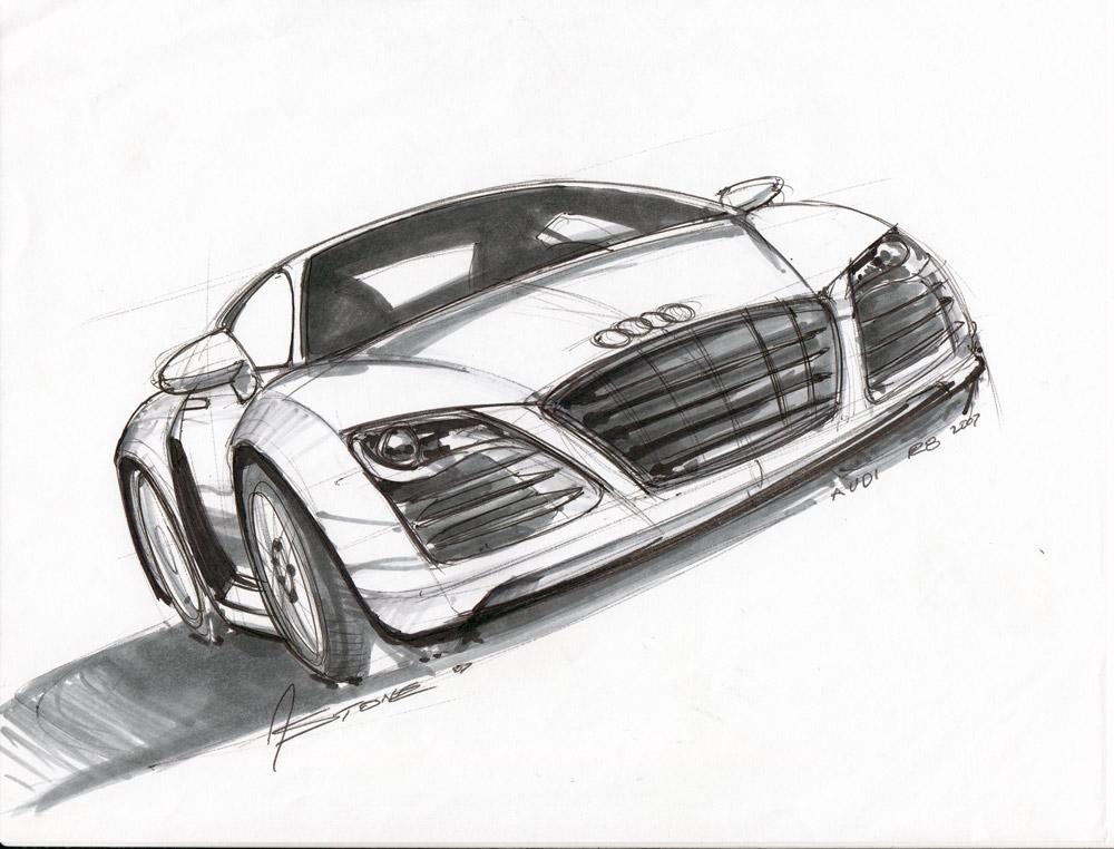 Audi Sketch Lineweights