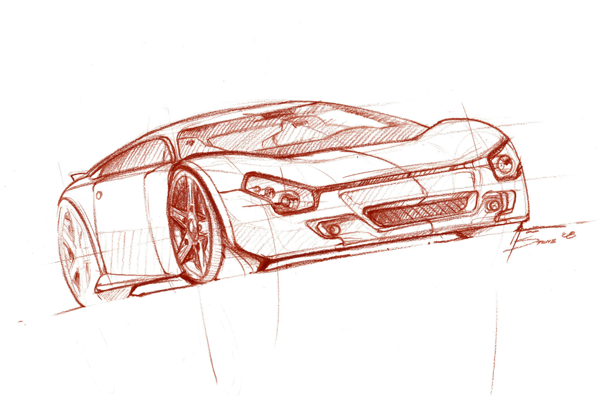 car sketch | Lineweights