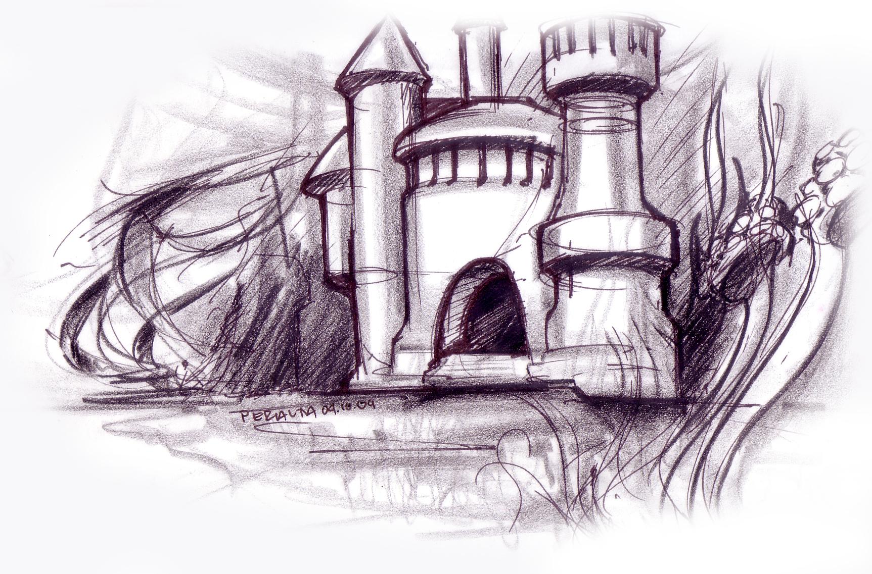 underwater castle | Lineweights