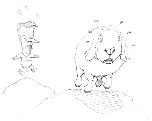 man-lamb