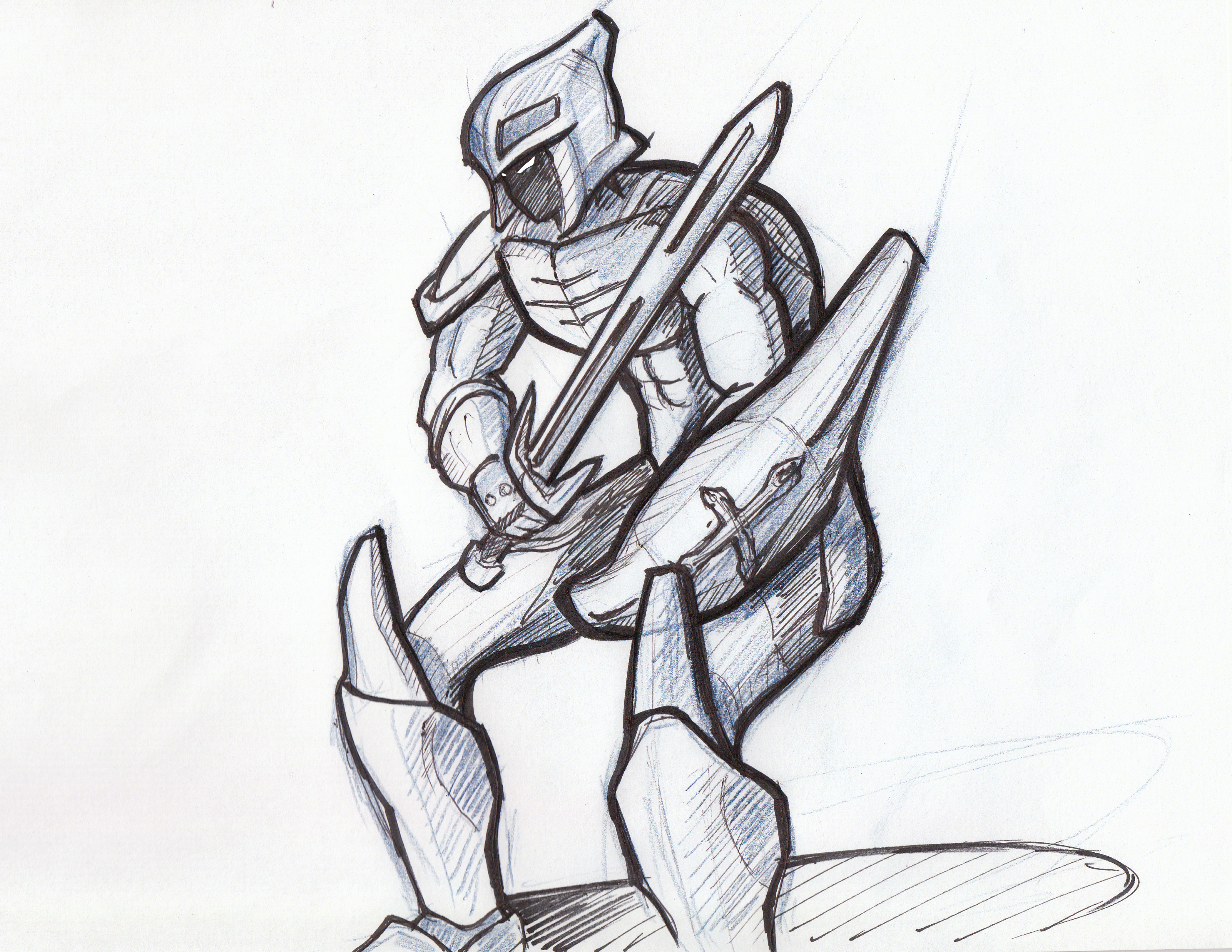 Line Drawing Knight : Knight line drawing