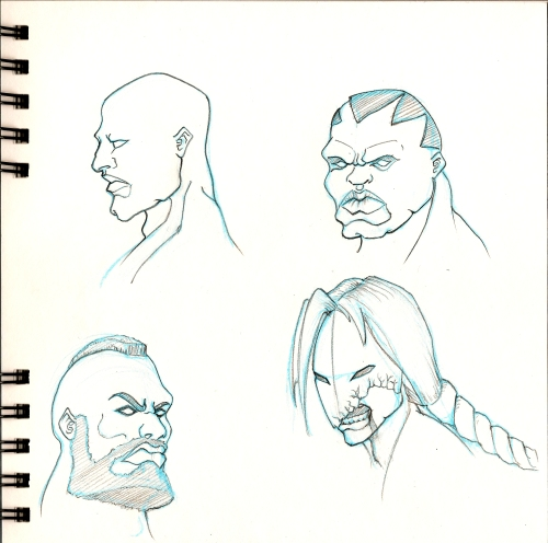 street fighter heads
