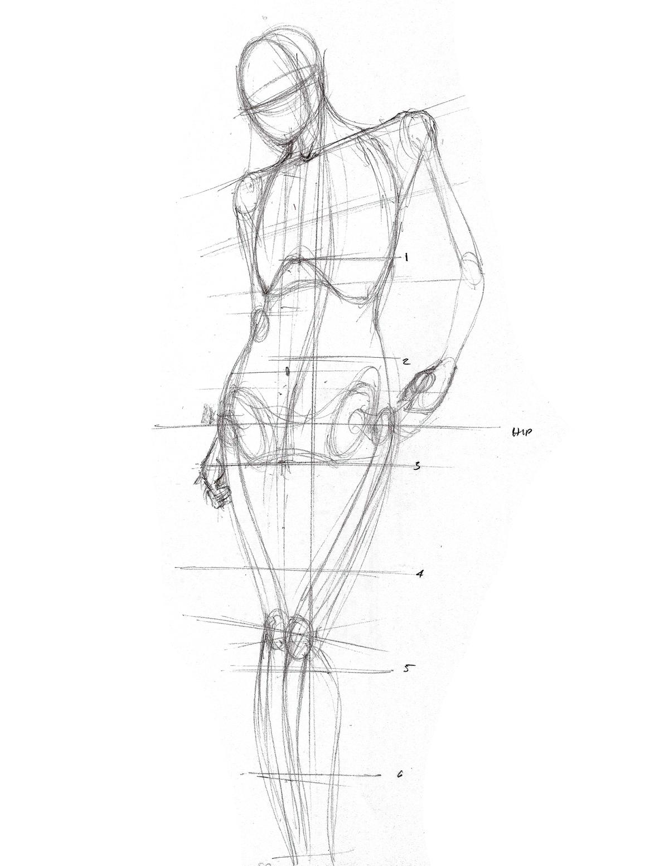 Fat girl sensual pencil art