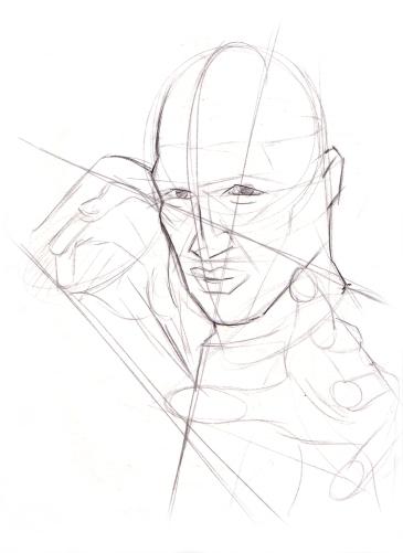 Primary shape sketch w/ beginning details