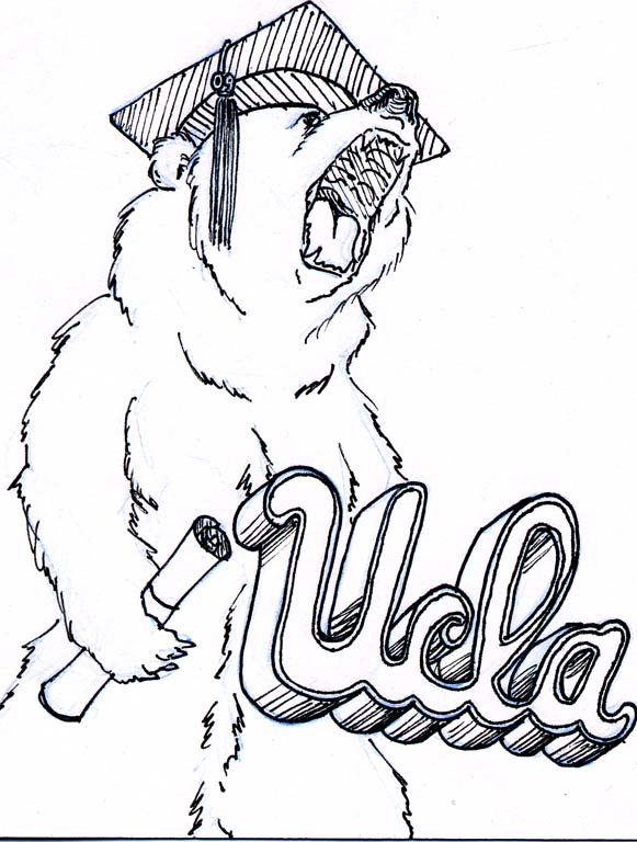 ucla logo coloring pages - photo#2
