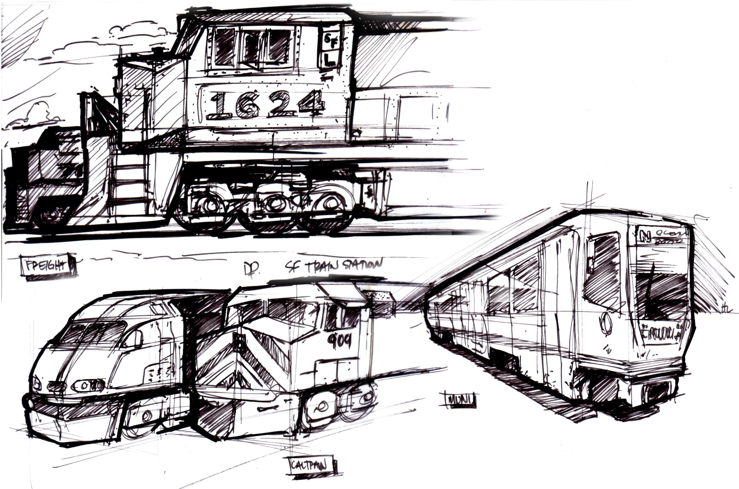 sf train station lineweights
