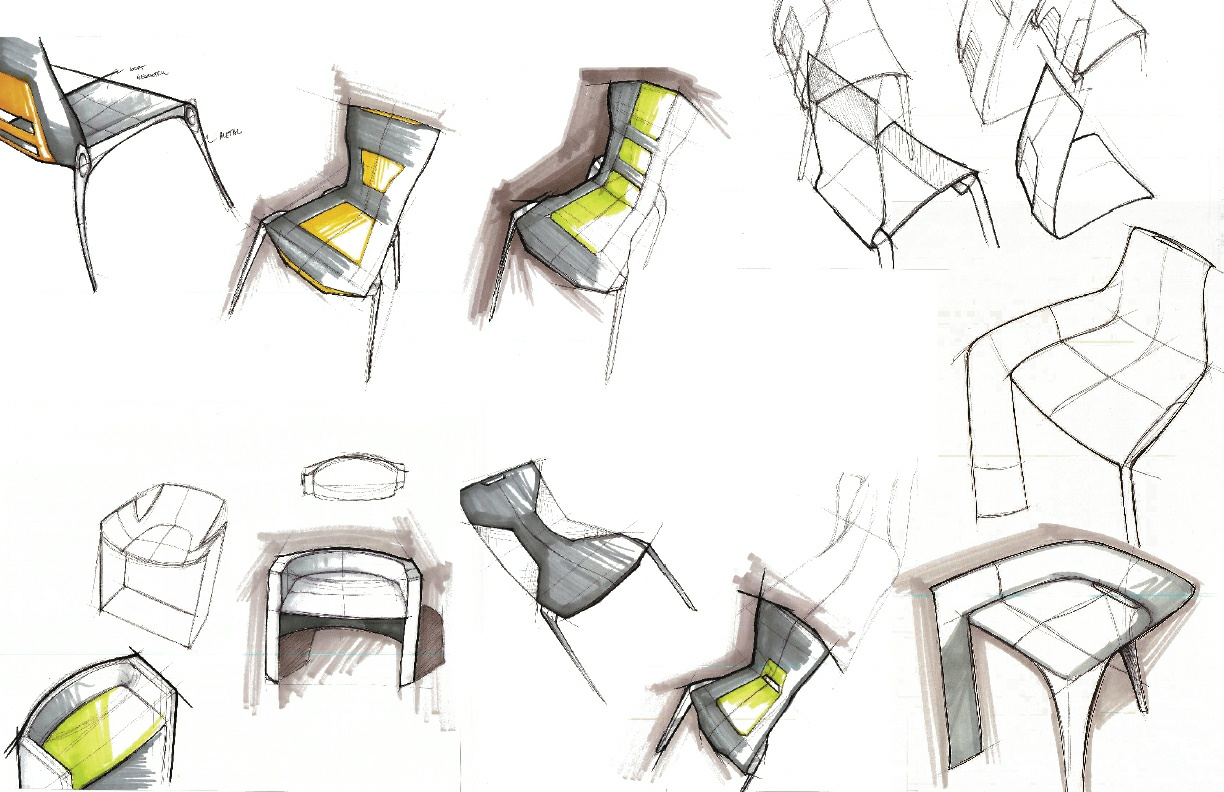 Quick Chair Sketches Lineweights